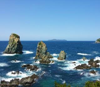 白波立つ青海島